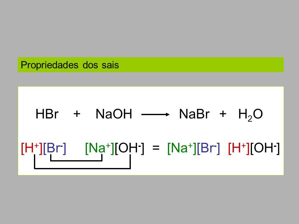 [H+][Br-] [Na+][OH-] = [Na+][Br-] [H+][OH-]
